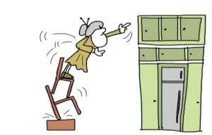 Os idosos devem ter os armários acessíveis para prevenir as quedas
