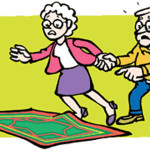 Os tapetes que não estão presos ao chão podem ser o motivo das quedas nos idosos