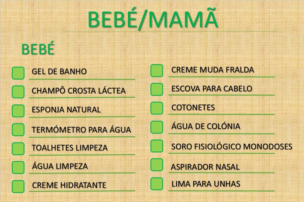 CHECK-LIST BEBÉ